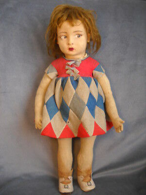 Very Rare Antique? Vintage Felt Doll I Believe It's an Italian Lenci - See Notes