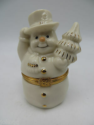 Lenox Treasures First Issue - the Snowman's Surprise Box - Mint