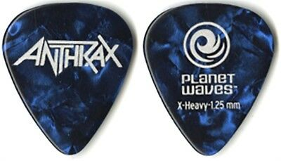Anthrax authentic 2011 tour Planet Waves blue pearl collectible Guitar Pick