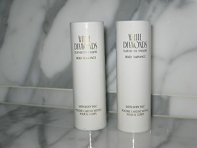 """White Diamonds"" Elizabeth Taylor. Satin Body Talc. 28 g / 1 oz. New. Lot of 2."