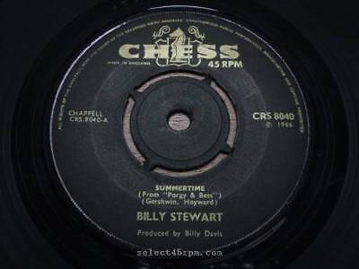 BILLY STEWART = Summertime = NEAR MINT = CHESS CRS 8040 = Northern Soul Midtempo