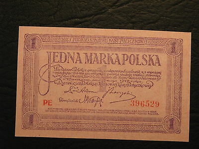 POLEN POLAND 1919 1 MARKA serie PE  #copie Notizen*copy banknote