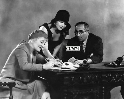 Rosetta and Vivian Duncan Signing a Contract with Louis B Mayer Photo