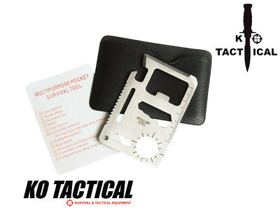 Multi Function Emergency Survival Credit Card Miltec Wallet Cutter Camping Tool
