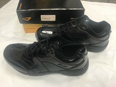 Mens black patent leather Official Footwear basketball referee shoes size 9.5