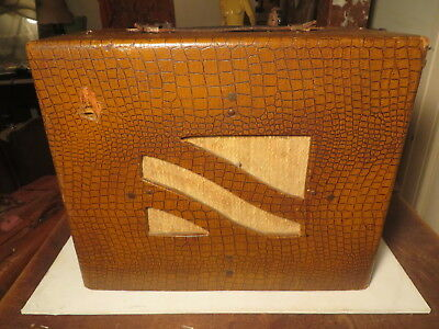 Awesome vintage 40's-50's practice/lap steel amp  Faux Gator!