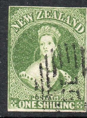 N.Z.1862/4 1/- SG 44 Excellent Quality V. Fine Used Stamp Sound No Hidden Faults