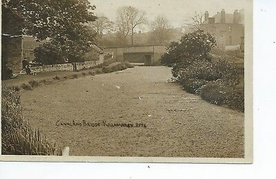 Real photo postcard of the canal and bridge at Killamarsh  Derbyshire in gc