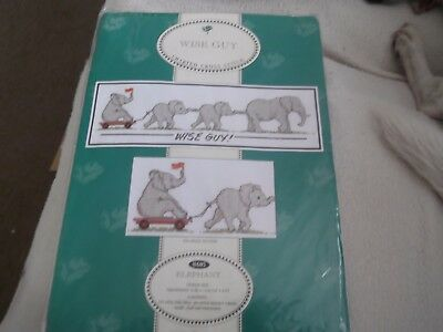 """Elephant """"Wise Guy"""" a Counted Cross Stitch Kit"""