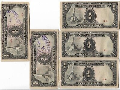 Rare Old Japanese WWII Japan War Dollar Peso Note WW2 Collectible Collection Lot