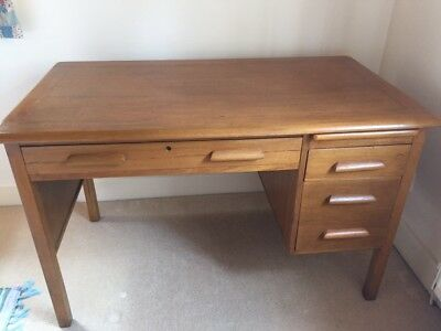 1950s style wooden office desk