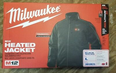 Milwaukee 201B21 Men's L Heated Jacket Kit w/ M12 Battery and Charger *New*