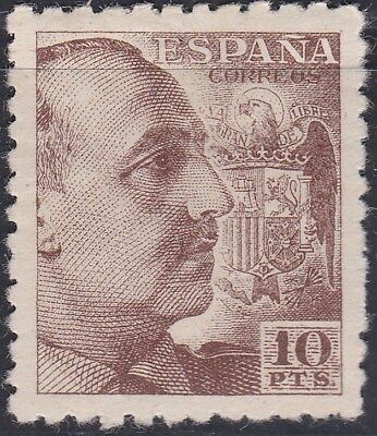 "1940. * Edifil: 934. G. FRANCO, DENTADO GRUESO. ""10PTS"". P. Cat: 245 €"