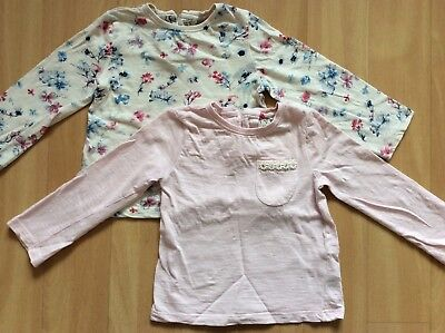 Next Baby girls Floral Pink Long Sleeve Tops 1.5-2 years 18-24 months