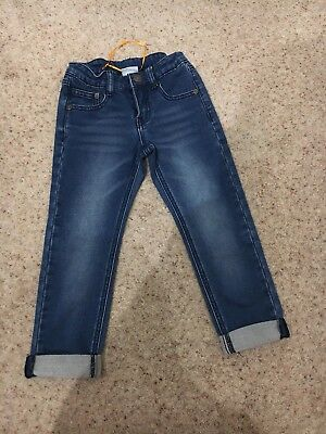 BN Without Tags Boys Jack Green Jeans Blue 5-6 Years