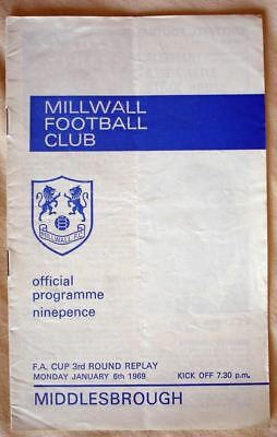 Millwall v Middlesbrough FAC Replay 68/69