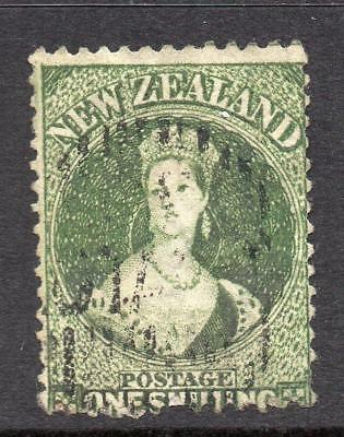 N.Z. 1862-4  1/-  SG 79 Fine Used Good Sound Collectable Stamp No Hidden Faults