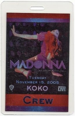 Madonna authentic 2005 Laminated Backstage Pass Dance Floor Confessions Koko