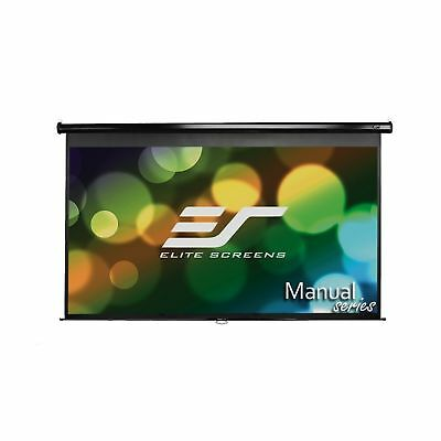 Elite Screens Manual 80-inch 16:9 Pull Down Projection Manual Projector Scree...