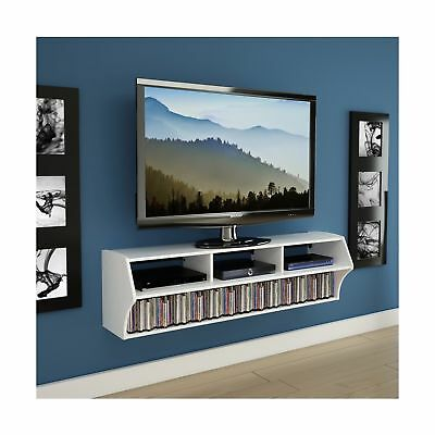 Prepac White Altus Plus 58-Inch Floating TV Stand