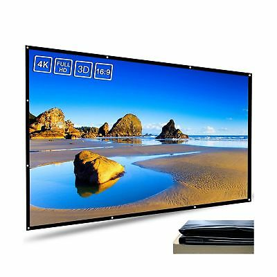 Meitoot 120 inch Outdoor Projection Screen High Brightness White PVC Screen H...