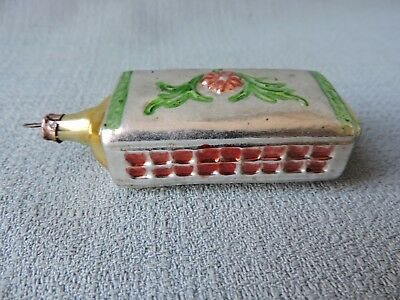 Antique German Glass Christmas Ornament HARMONICA 1940's