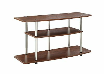 Convenience Concepts 3 Tier Wide TV Stand Cherry Finish Brown