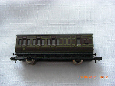Lms 4 Wheel Fully Lined Bk/comp Carriage- Boxed - Used - N Gauge