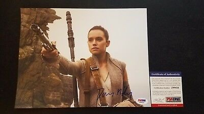 Daisy Ridley Star Wars Rey Autograph Signed PSA DNA