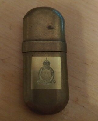 British RAF WWII Kingsway Brass petrol lighter Royal air force station Changi