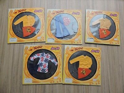 Vintage Hasbro Miss Matchbox Disco Girls LOT of 5 Outfits NIB NOS from 1972