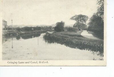 Printed postcard of the Canal at Gringley lane Retford Derbyshire in vgc