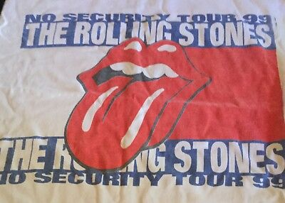 Rolling Stones No Security Tour T-Shirt 1999 No Tag Probably A Large