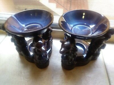 Porcelain Triple Dolphin Oil Burner Warmers Diffuser two Pieces For Aromatherapy
