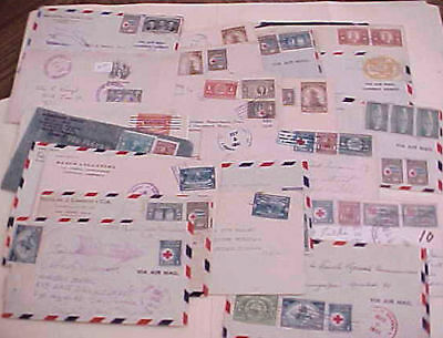 HONDURAS 23 SMALL COVERS 1940's MOSTLY TO USA ALSO 6 FRONTS ONLY