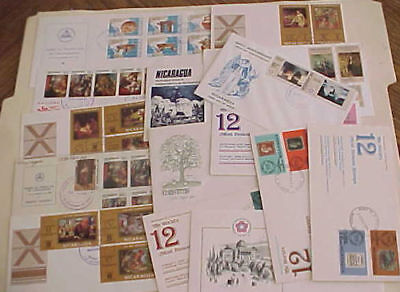 Nicaragua Fdc 18 Diff. 1970-1976 Cachet Unaddressed