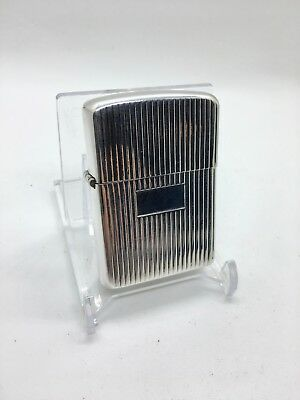 Vintage Sterling Silver Engine Rolled Zippo