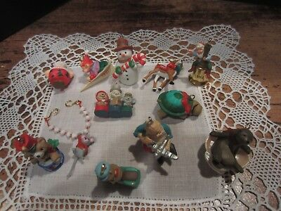 Vintage 1991 Hallmark Mini Ornaments Lot of 12
