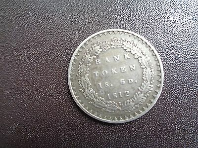 GEORGE 111 COIN - 1s. 6p.   BANK TOKEN 1812