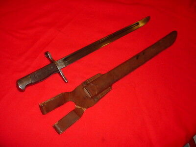 WWII JAPANESE TYPE 30 LANDING FORCES BAYONET with RUBBER SCABBARD
