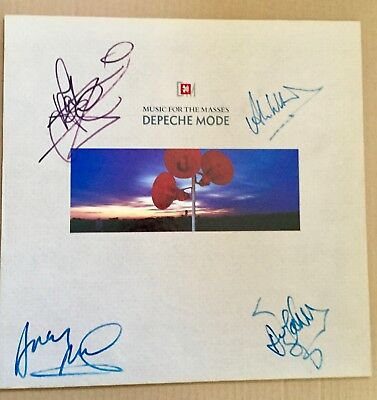 Depeche Mode fully signed MUSIC FOR THE MASSES Lp (vinyl Violator)