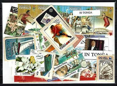 Tonga 50 timbres différents