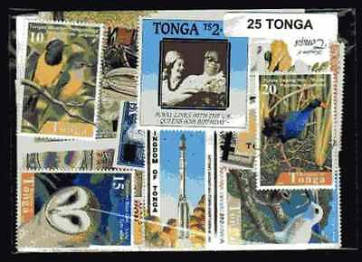 Tonga 25 timbres différents
