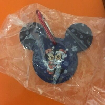 Disney cruise line DCL holiday luggage / gift tag Mickey and Minnie