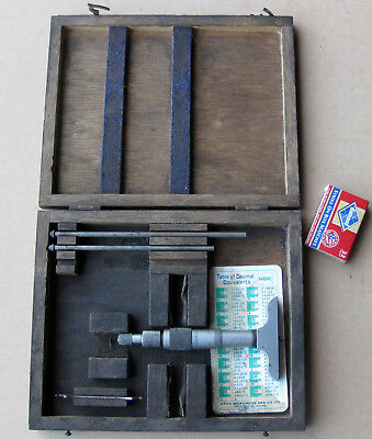 NSK DEPTH INDICATOR MICROMETER Two Rods Machine milling tool mechanic boxed