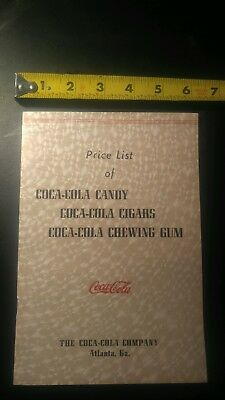 Coca Cola Booklet For Candy, Gum And Cigars