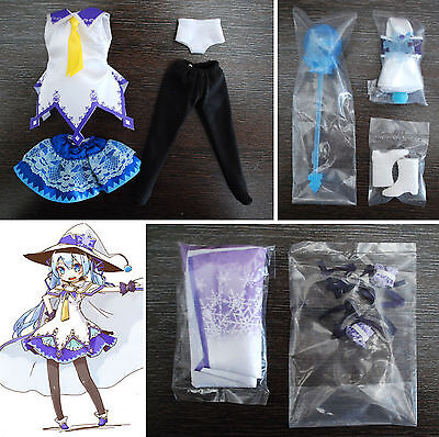 Loose cosplay Magical Snow Vocaloid Miku Outfit for Blythe or Dal 1/6 Doll Azone