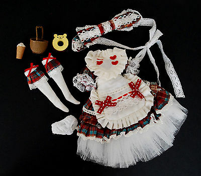 Dress Set outfit clasical lolita country doll 1/6 Pullip Dal Blythe Azone XS