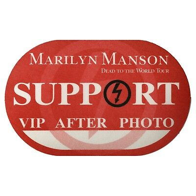 Marilyn Manson authentic Support 1997 tour Backstage Pass