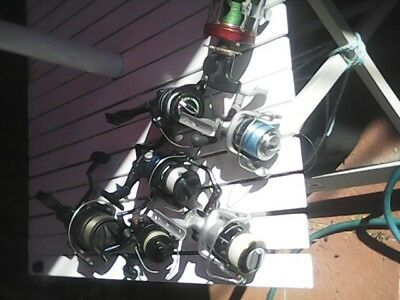 5 fishing rods 8 reels WITH 7 DAY WARRANTY from p/u time